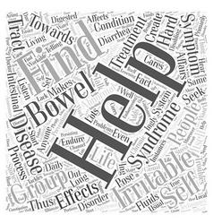 Irritable bowel syndrome self help group word vector