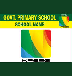 Khyber pakhtunkhwa education department new logo vector