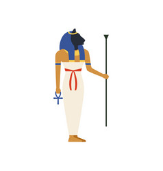 Maat the goddess of justice of ancient egypt vector