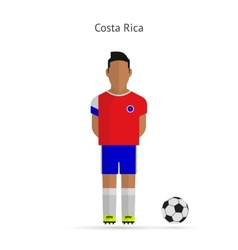 National football player Costa Rica soccer team vector image vector image