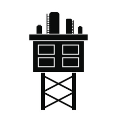 Oil platform black simple icon vector