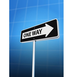 one way arrow vector image vector image