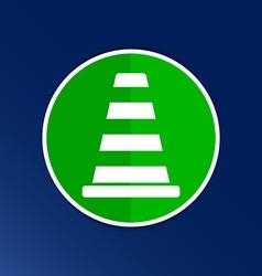road cone fence icon button logo symbol vector image