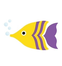 sea fish icon vector image