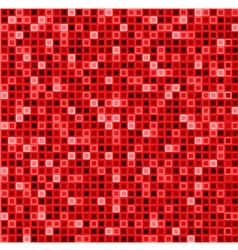 Seamless abstract pattern with squares in red vector image vector image