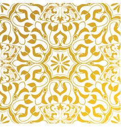 seamless texture golden vintage pattern vector image