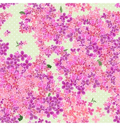 Seamless texture with flowers of lilac vector