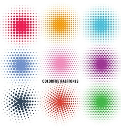 set of colorful halftones vector image vector image