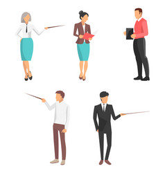 set of icons business people vector image vector image