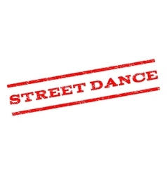 Street dance watermark stamp vector