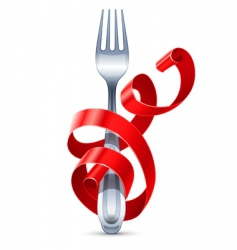 table fork vector image vector image