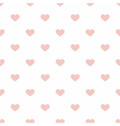 Tile pastel hearts on white background pattern vector image