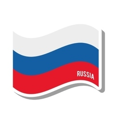 Russia patriotic flag isolated icon vector