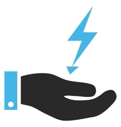 Electricity supply hand eps icon vector