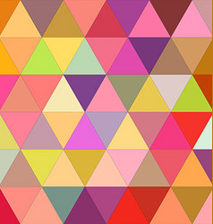 Happy triangle mosaic background design vector
