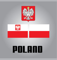 Official government elements of poland vector