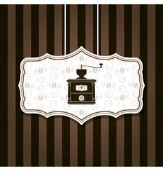 coffee grinder background vector image