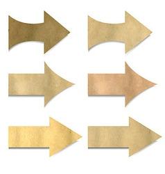 Vintage Paper Arrows Set vector image