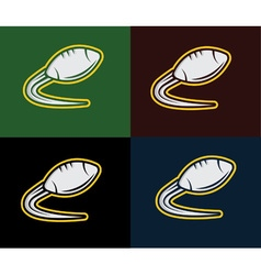 Rugby and american football emblem vector image