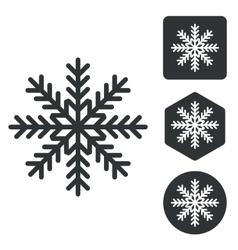 Cold icon set monochrome vector image