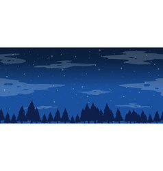 Seamless pine trees at night vector