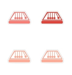 Assembly realistic sticker design on paper magic vector