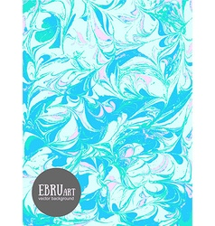 Abstract ebru backgroundblue and pink vector