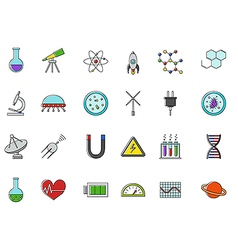 Science colorful icons set vector