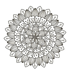 Beautiful decoration floral mandala vector