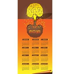 autumn time calendar vector image