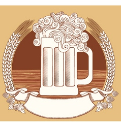beer symbolvector graphic illustration of glass wi vector image vector image