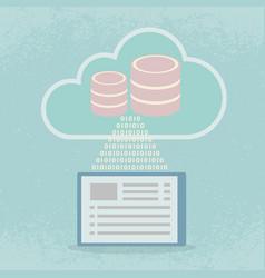 big data cloud computing concept vector image vector image