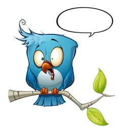 Blue bird shock vector