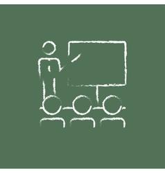 Business presentation icon drawn in chalk vector