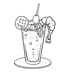 Cartoon image of weird cocktail vector