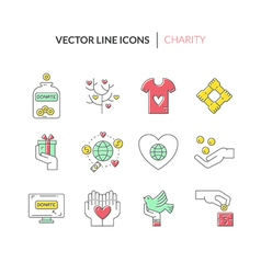 Charity icons vector
