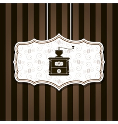coffee grinder background vector image