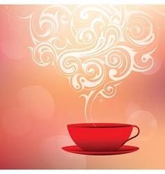 Coffee with tribal smoke vector