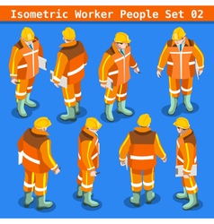 Construction 02 People Isometric vector image
