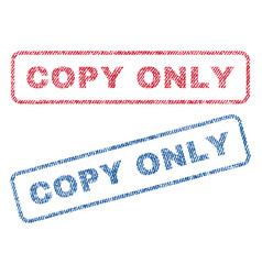 copy only textile stamps vector image vector image