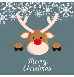 Deer cartoon icon merry christmas design vector