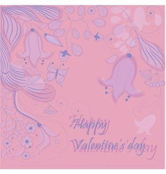 Hand-drawn Valentines card vector image vector image