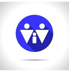 homosexual family icon Eps10 vector image