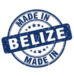 Made in belize blue grunge round stamp vector