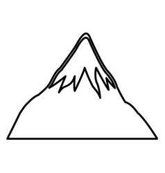 Mount fuji japan landscape natural line vector