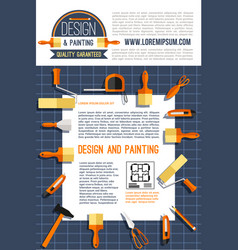 Poster for house design and painting vector