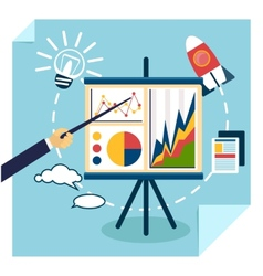 Presentation of business development concept vector image vector image