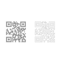 Qr code the grey set icon vector