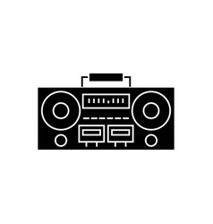 record player - tape recorder icon vector image vector image