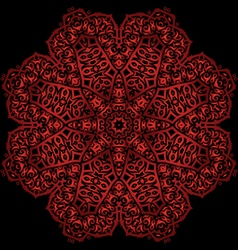 Red metal flower vector